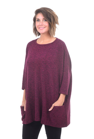Cut Loose Crimped One-Size Pullover, Radish One Size Radish