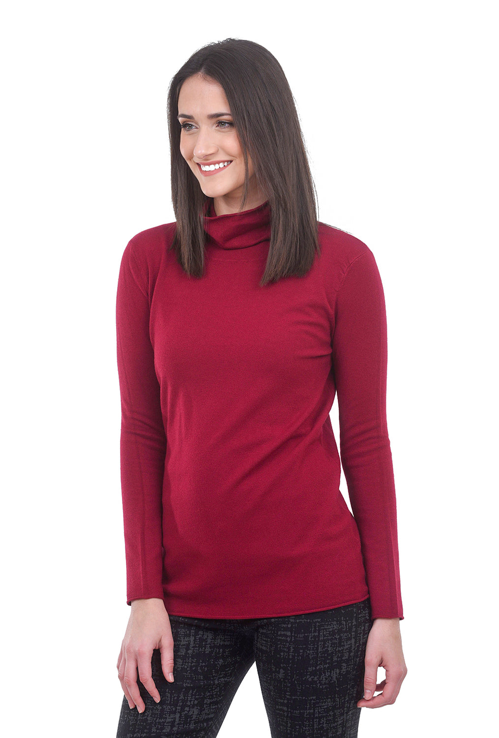 Sisters Spare TNeck Sweater, Wine