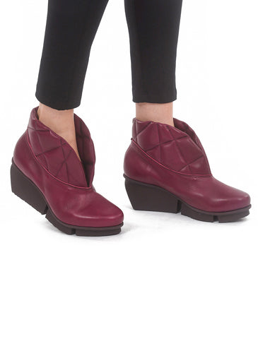 Trippen Shoes Pad Splitt Boot, Wine Notte Sat