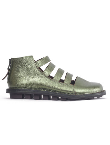 Trippen Shoes Skipper Closed Shoes, Green Pirit Lam