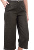 See You Soon Cropped Flare Tweedy Pants, Marled Black