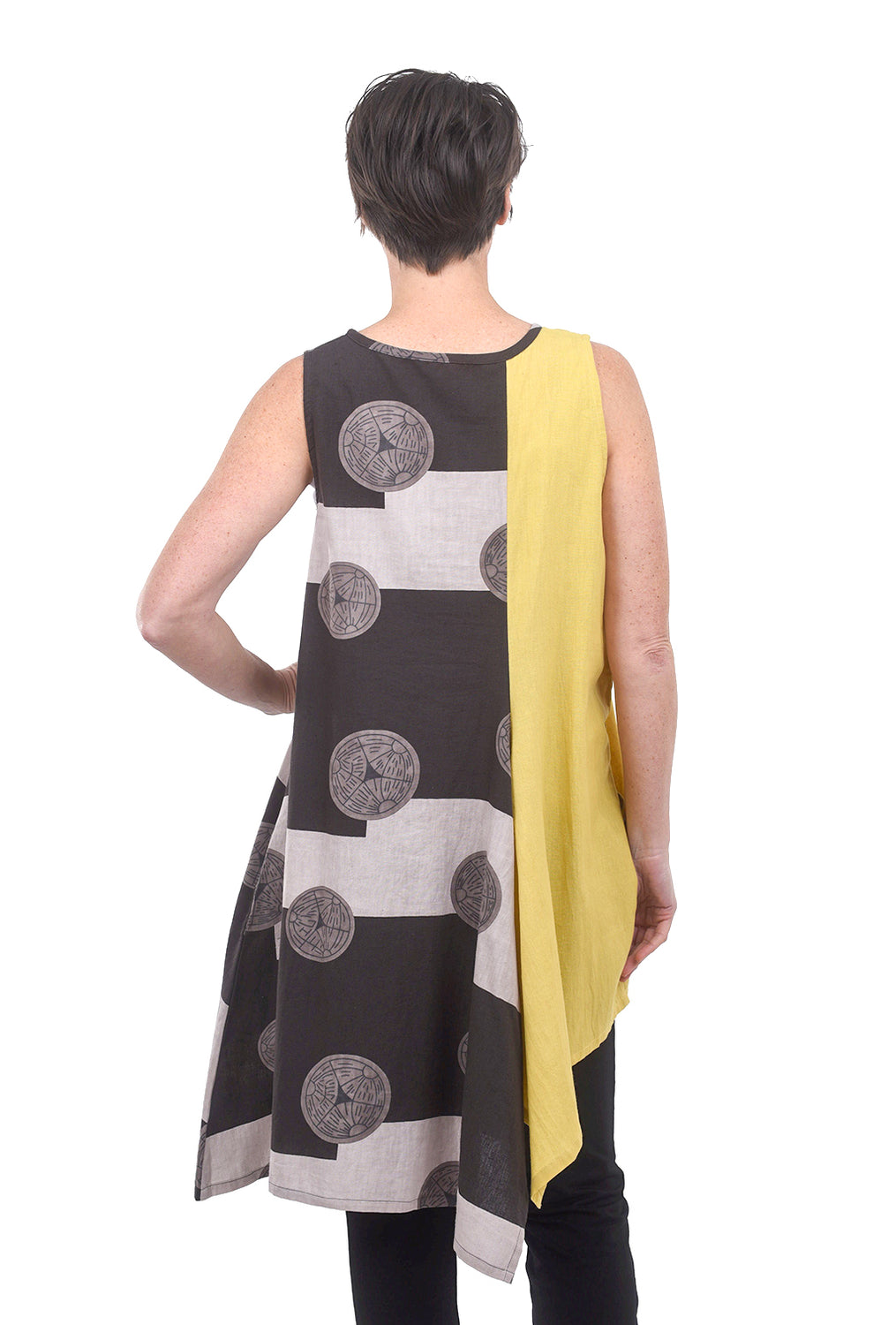 Mao Mam Patch Funky Jumper, Gray/Yellow One Size Yellow