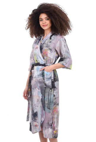 Bitte Kai Rand Artist Linen Dress, Mauve Multi