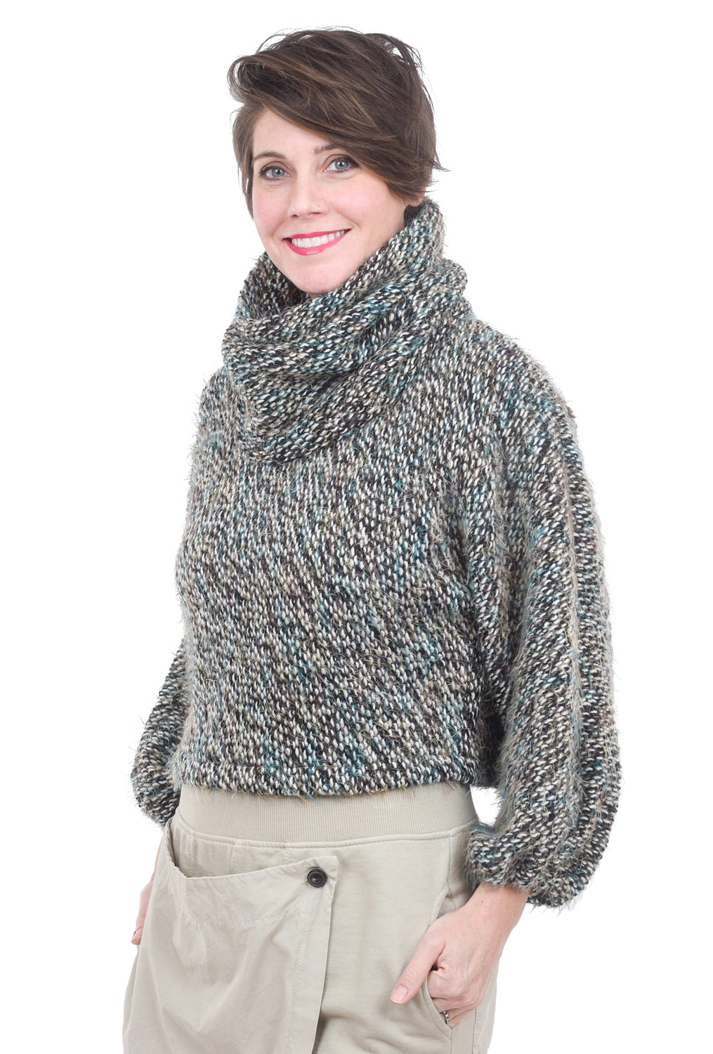 Bryn Walker Sweater Cowl, Teal Multi One Size Teal