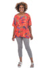 Transparente Clothing Color Samples Linen Top, Red
