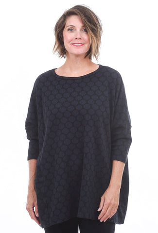 Cut Loose Graphic Dot Pullover, Blue Moon One Size Blue