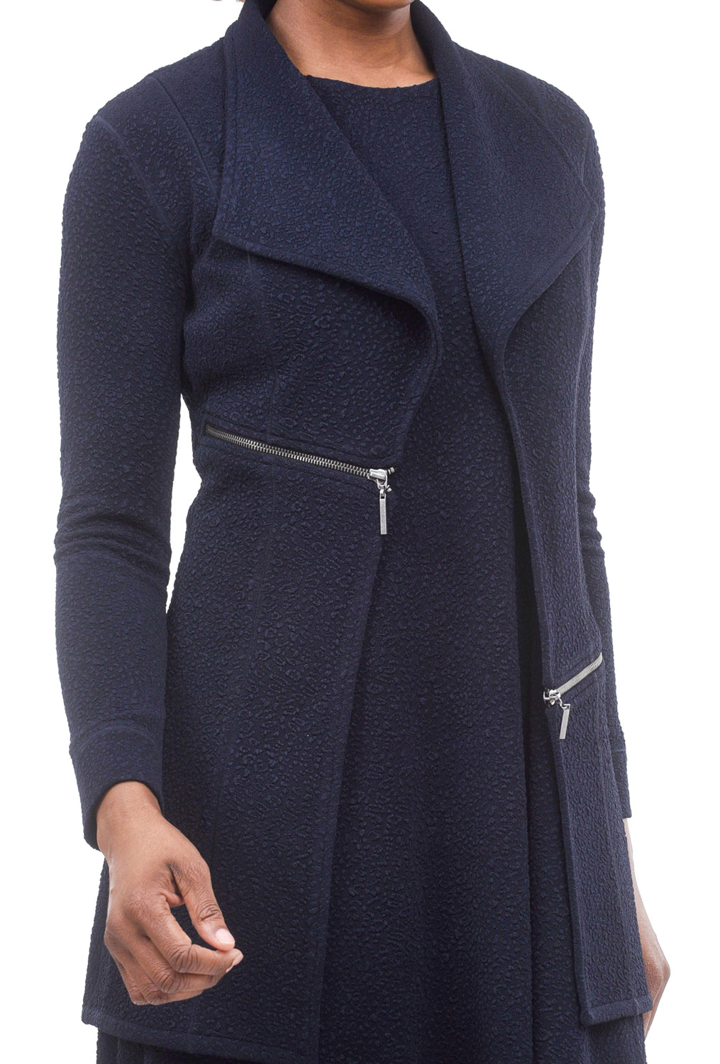 Eva Varro Pebbled Barcelona Jacket, Navy