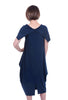 Sun Kim Donna Lantern Dress, Denim Blue