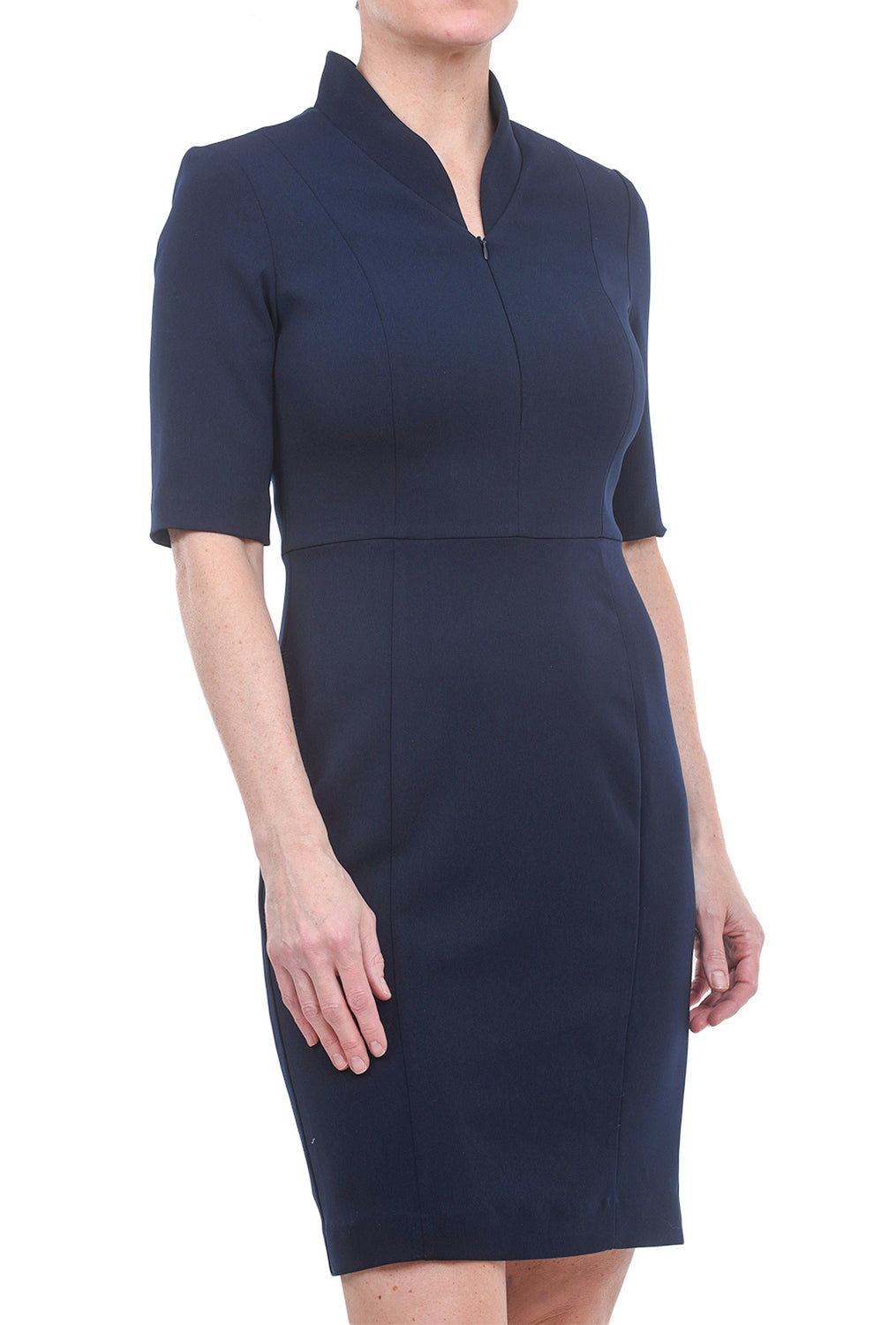 Nora Gardner Evelyn Sleeved Dress, Navy