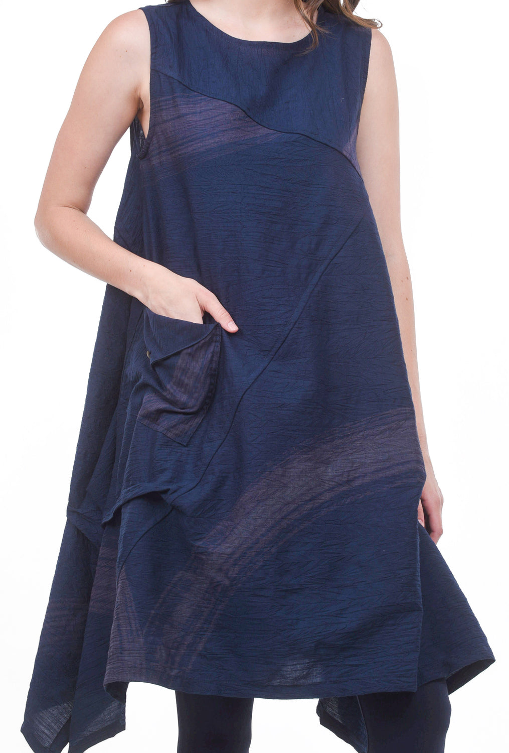 Mao Mam Mao Mam Wing Dress, Navy One Size Navy
