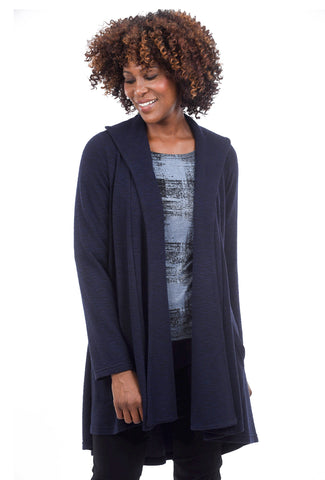 Cut Loose Crimped Swing Jacket, Blue Moon