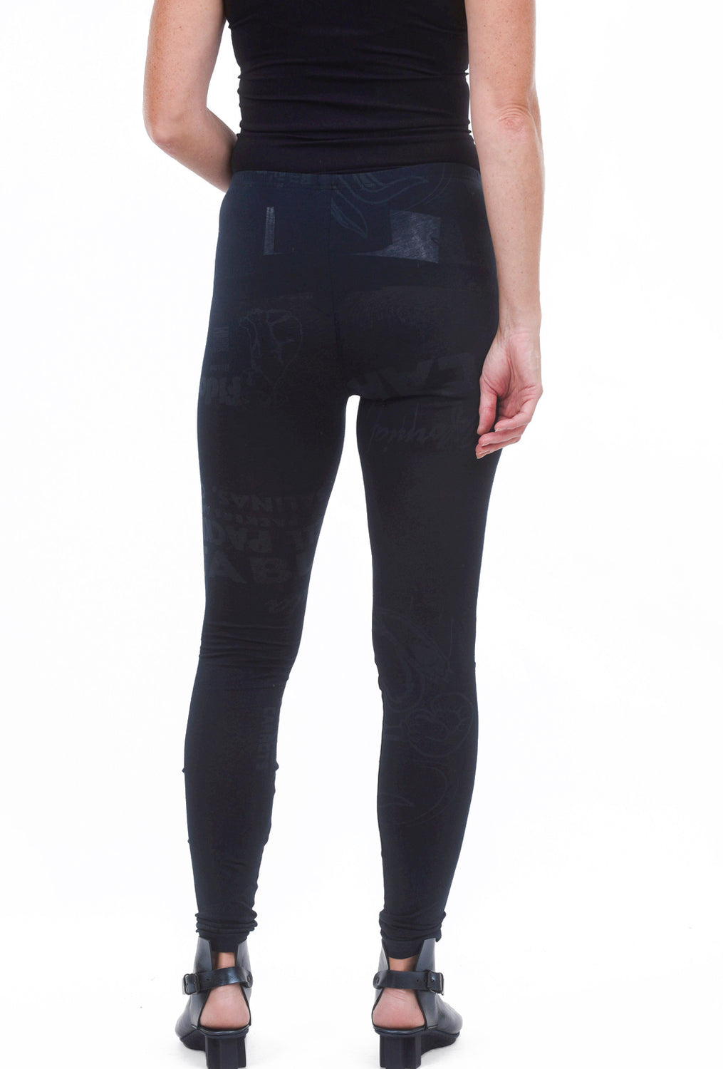 Rundholz Black Label Basic RBL Print Leggings, Petrol
