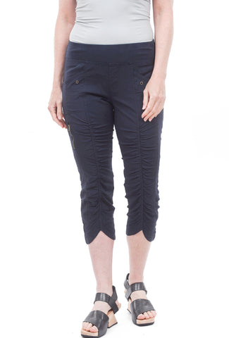Evie Lou Iris Crop Pants, Navy