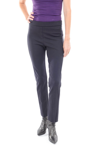Estelle & Finn Waist Detail Knit Trouser, Navy