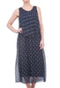 Tempo Paris Sweet Dots Floaty Dress, Navy