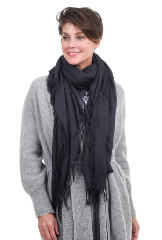 Blue Pacific Tissue Solid Scarf, Slate Gray One Size Slate