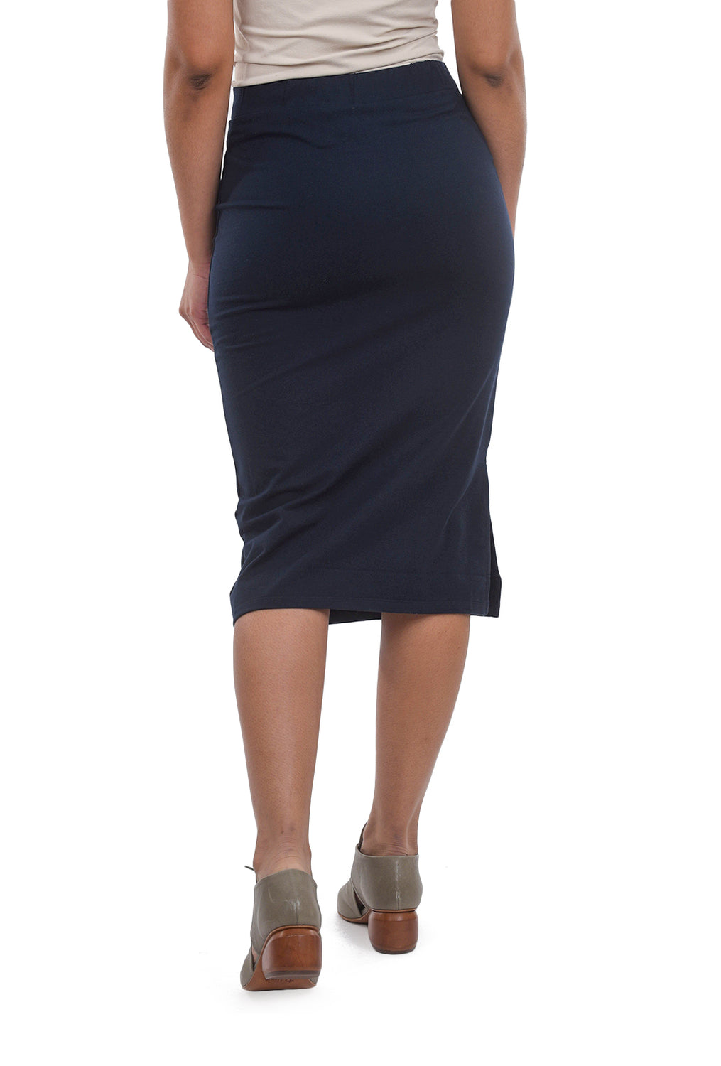 People Tree Keira Pencil Skirt, Navy