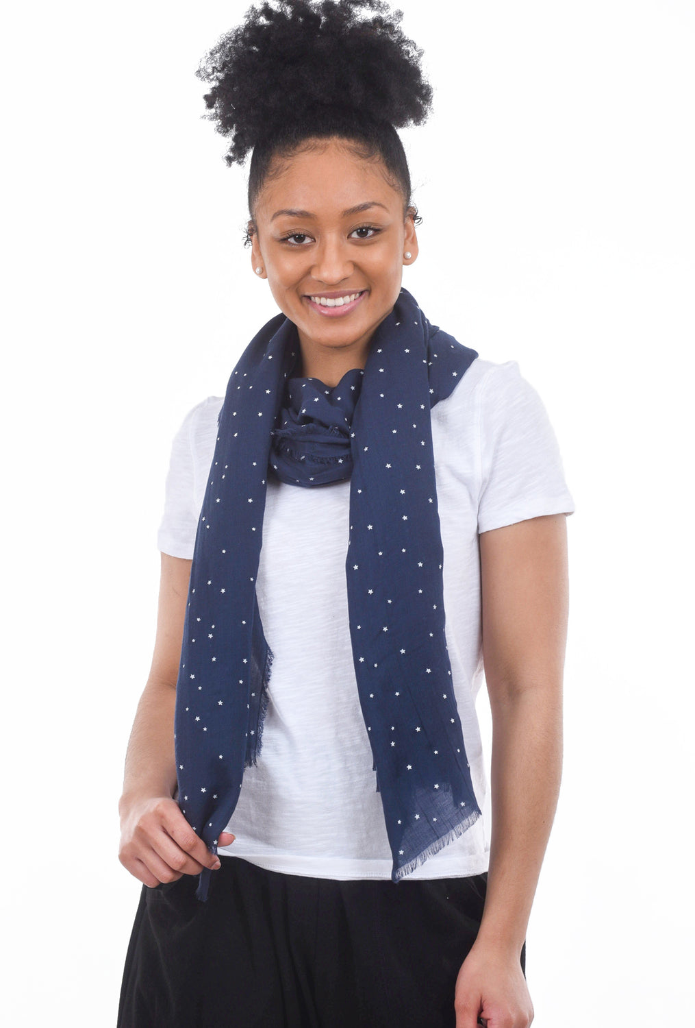 Blue Pacific Vintage Icon Scarf, Blueberry Star