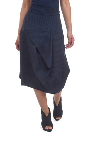 Porto Coppola Skirt, Deep Blue Stripe