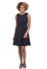 Eva Varro Pebbled A-Line Dress, Navy