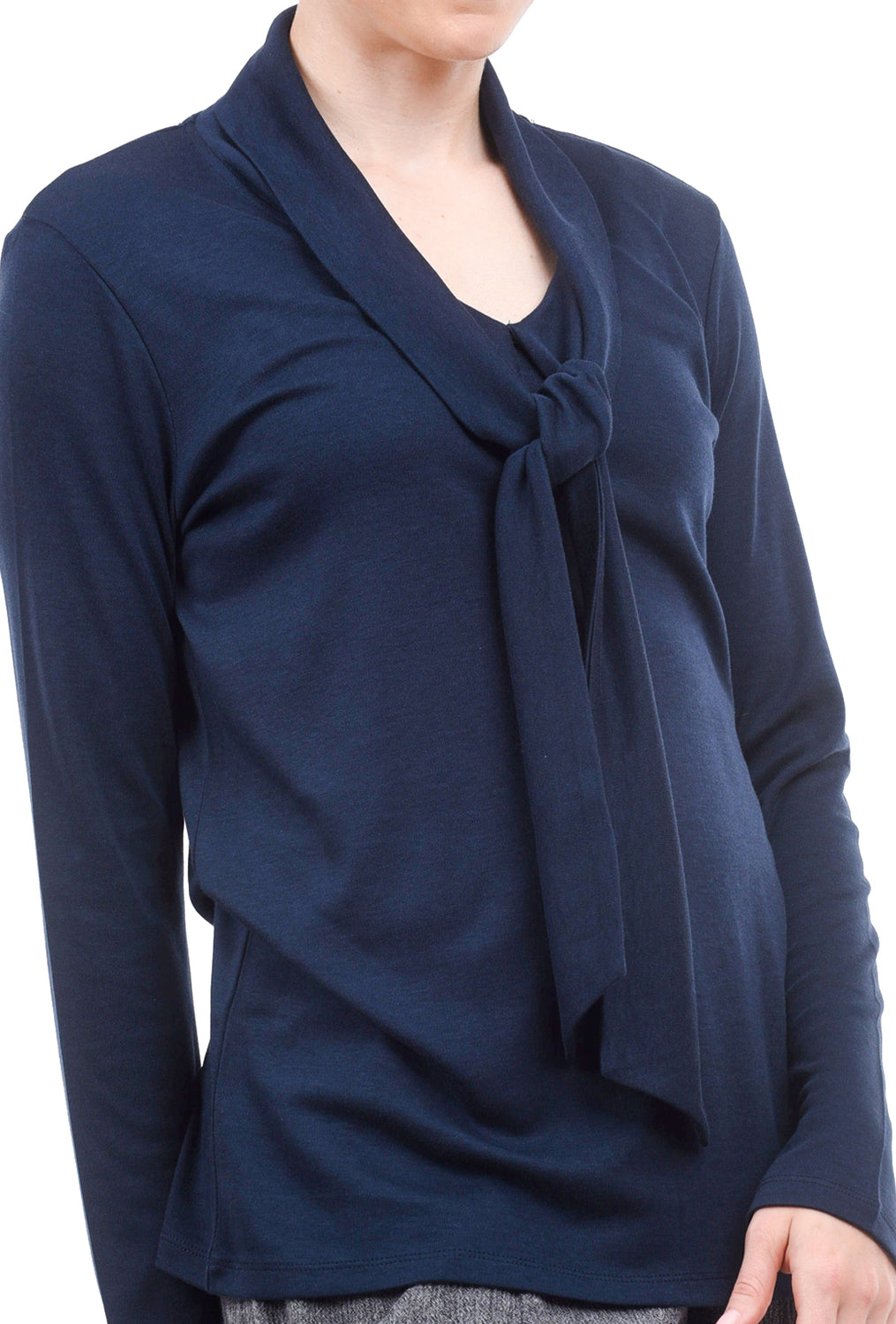 People Tree Isabel Tie Top, Navy