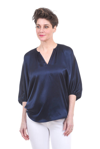 Acrobat Dolman Butterfly Blouse, Ink Blue