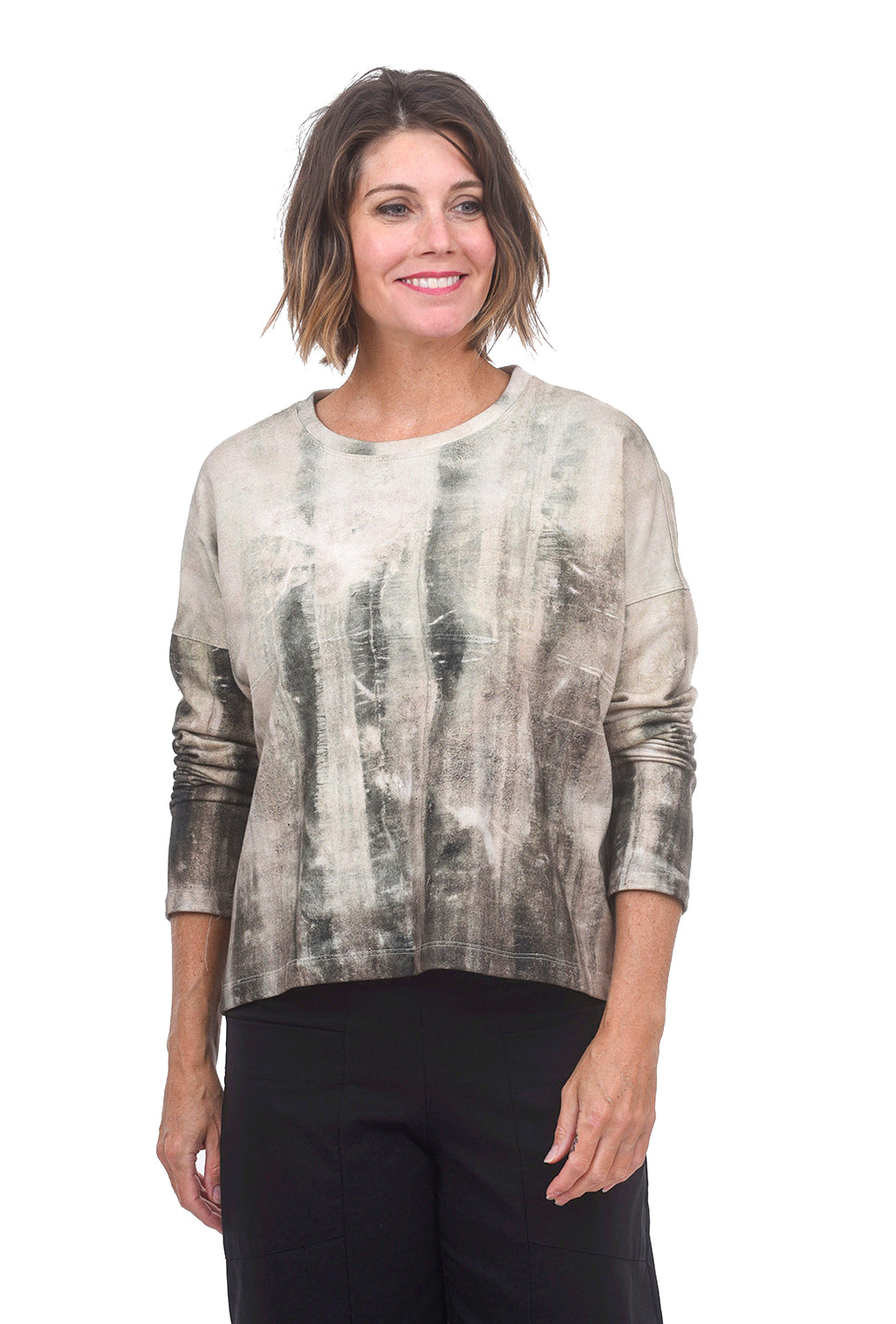Veronique Miljkovitch VM Reece Fleece Top, Cement Print
