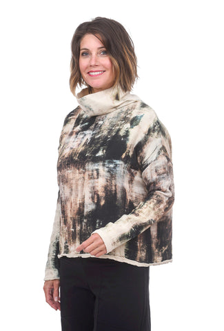 Veronique Miljkovitch VM Venus Gauze Top, Earth Print