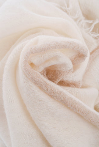 Grisal Salem Tipped Scarf, Cloud/Beige One Size Cloud