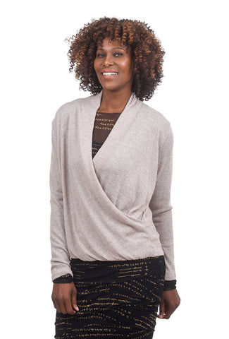 Sinuous L/S Infinity Top, Sand