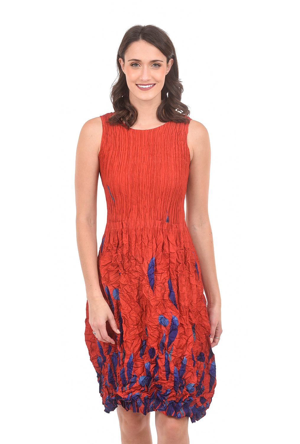 Alquema S/L Smash Pocket Dress, Burnt Orange