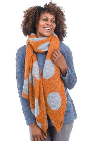 Numph Milou Scarf, Sudan Orange One Size Orange