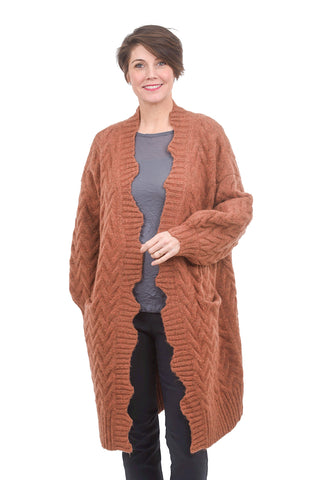Kerisma Knits Joline Jacket, Desert Rose One Size Rose