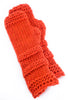 Santacana Madrid Wool/Alpaca Fingerless Gloves, Orange One Size Orange
