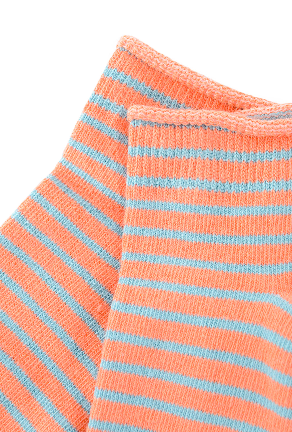 Little River Sock Mill Striped Bootie SS18, Salmon/Slate