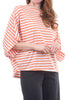 Planet Stripe Bateau Tee, Creamsicle/White One Size Creamsicle