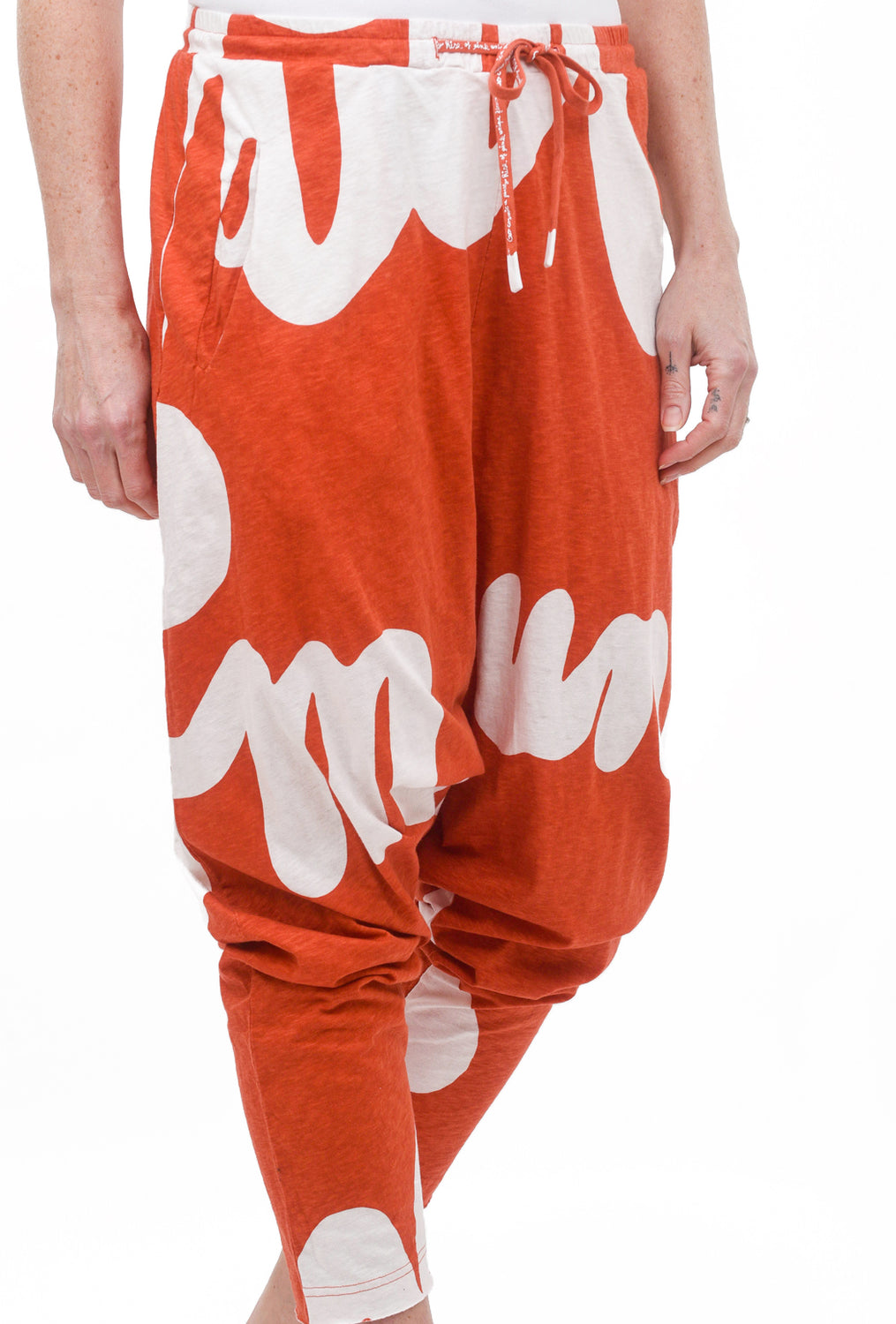 Rundholz Black Label Zoom Type DC Pant, Orange Print