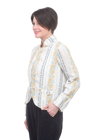 CP Shades Antique Print Dree Jacket, White/Lemon
