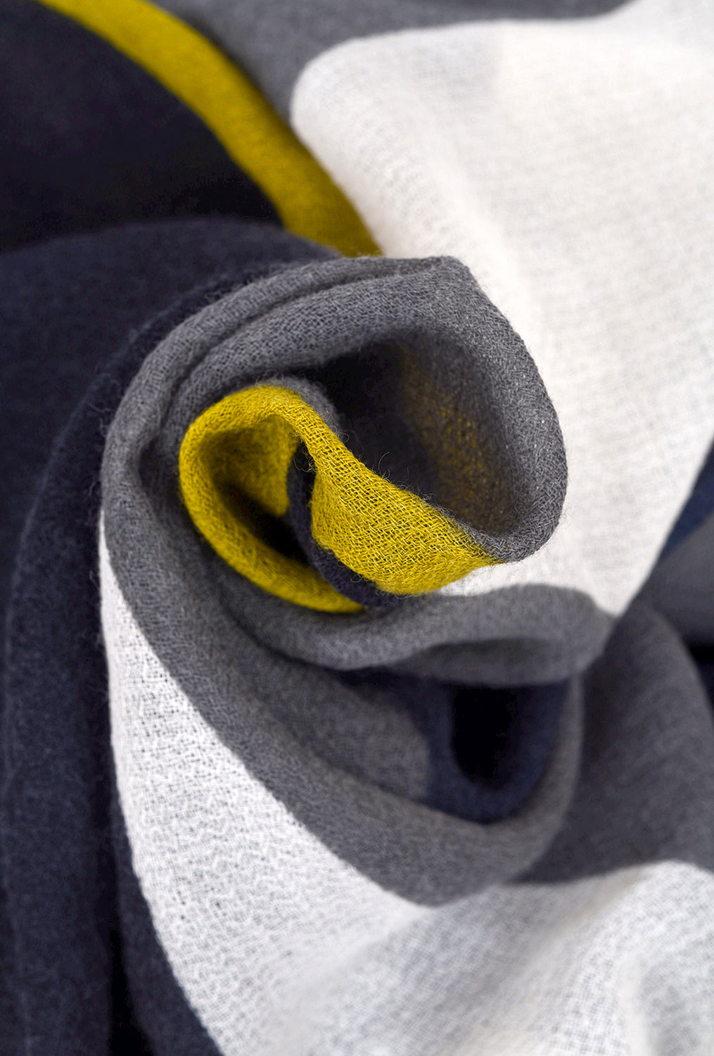 Two Danes Composition Scarf, Blue/Mustard One Size Blue