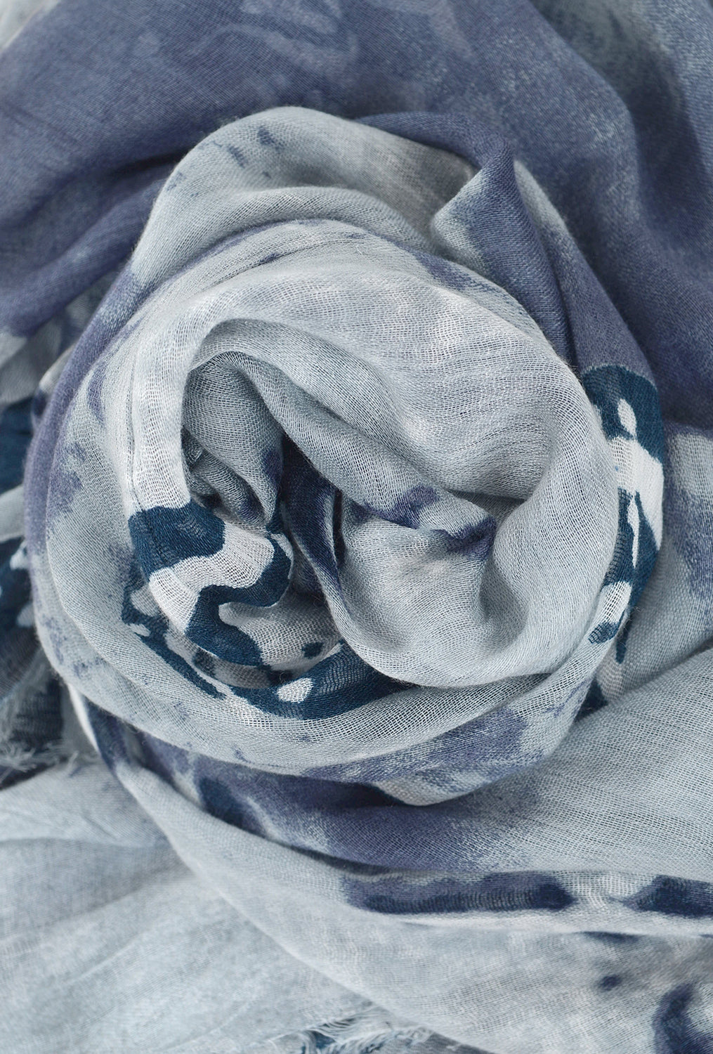 Blue Pacific Travel Scarf, Woodstock Gray One Size Blue