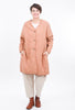 Filosofia Brooklyn Quilted Coat, Peach Sand Large Sand