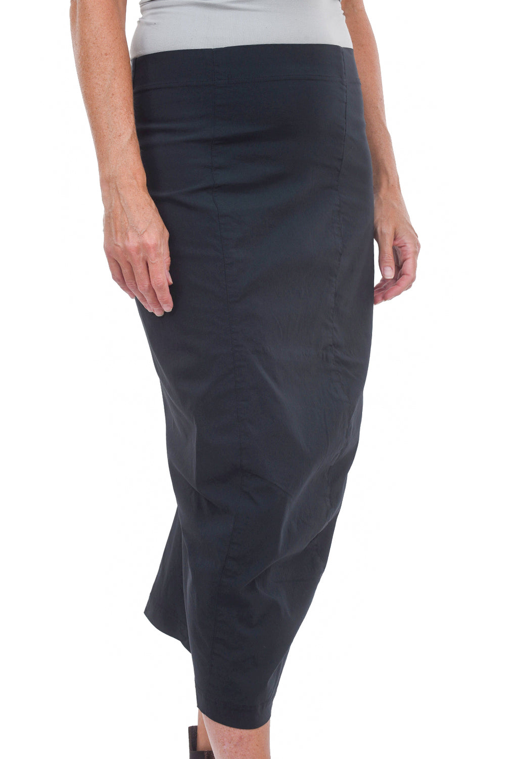 Rundholz Black Label Sig Stretch Twill Slim Skirt, Petrol