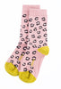 Little River Sock Mill Chloe Leopard Crew Sock, Rose