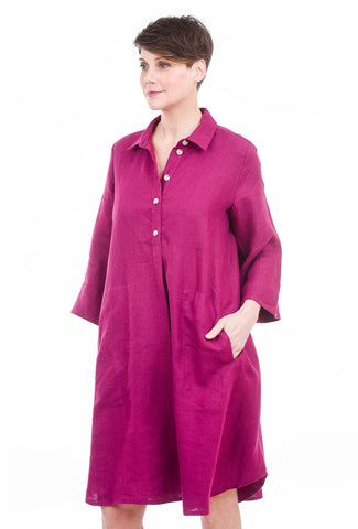 Bika Drora Classic Dress, Purple Violet