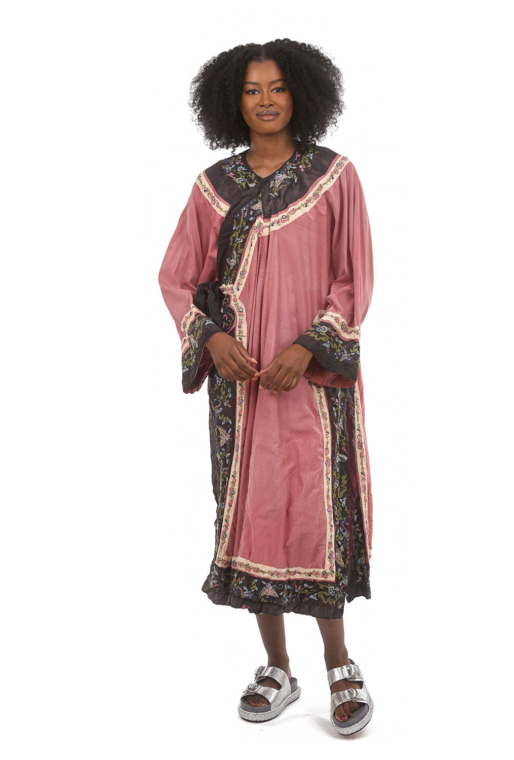 Magnolia Pearl Cotton Silk Miggy Coat, Faded Beet One Size Beet