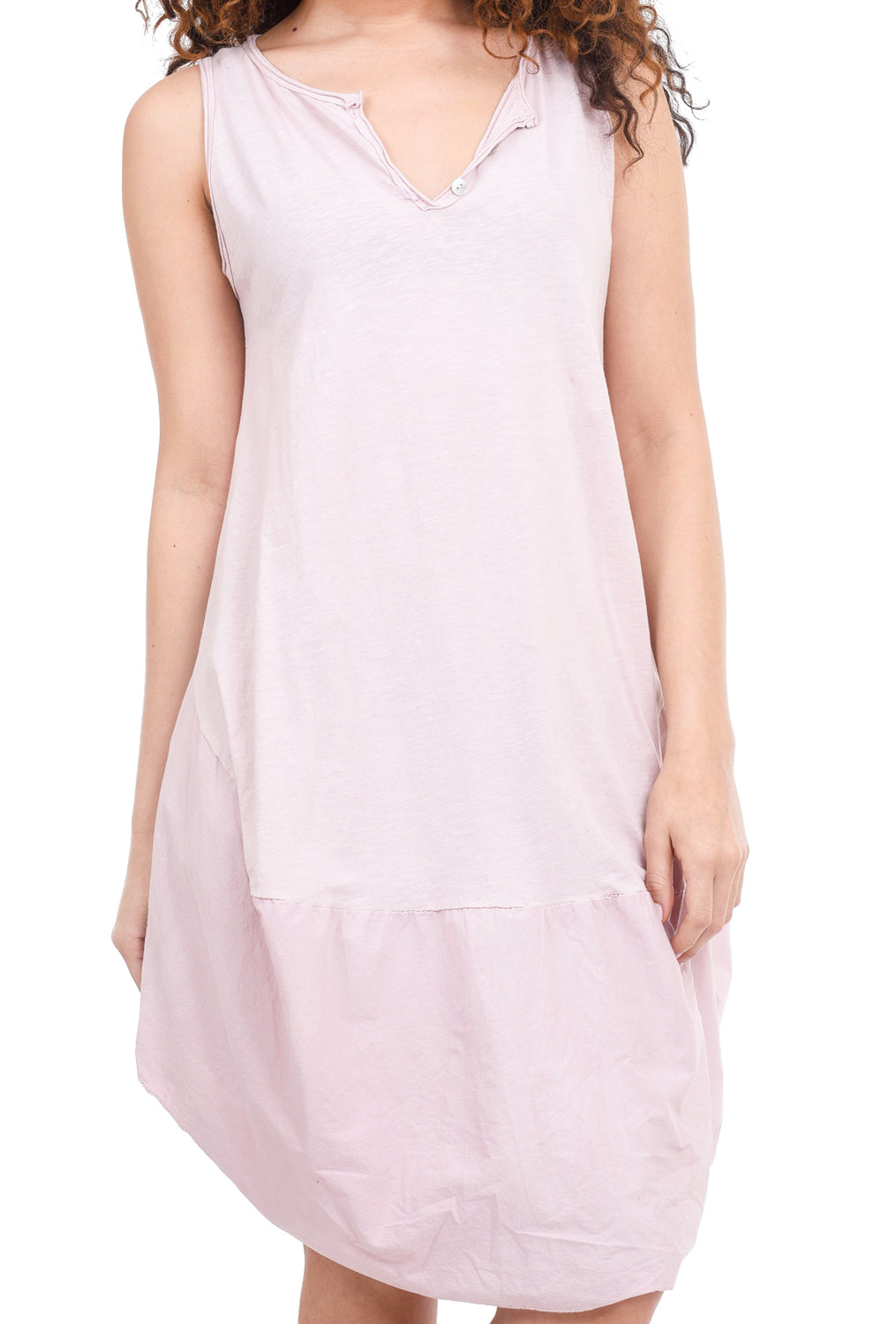 Oro Bonito Button-V Easy Dress, Pink One Size Pink