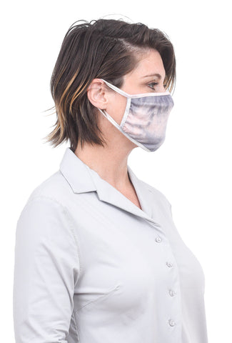 Coin1804 Cotton Jersey Face Mask, Pink Tie-Dye