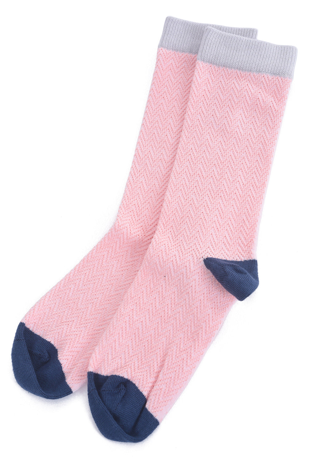 Little River Sock Mill Textured Herringbone Sock, Blossom Pink One Size Pink