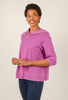 Sinuous Brushed Fleece Hoodie Dress, Purple Ruby
