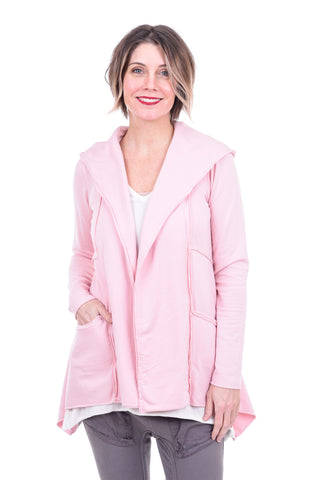 Cut Loose Micro Fleece Hooded Jacket, Rosalie Pink